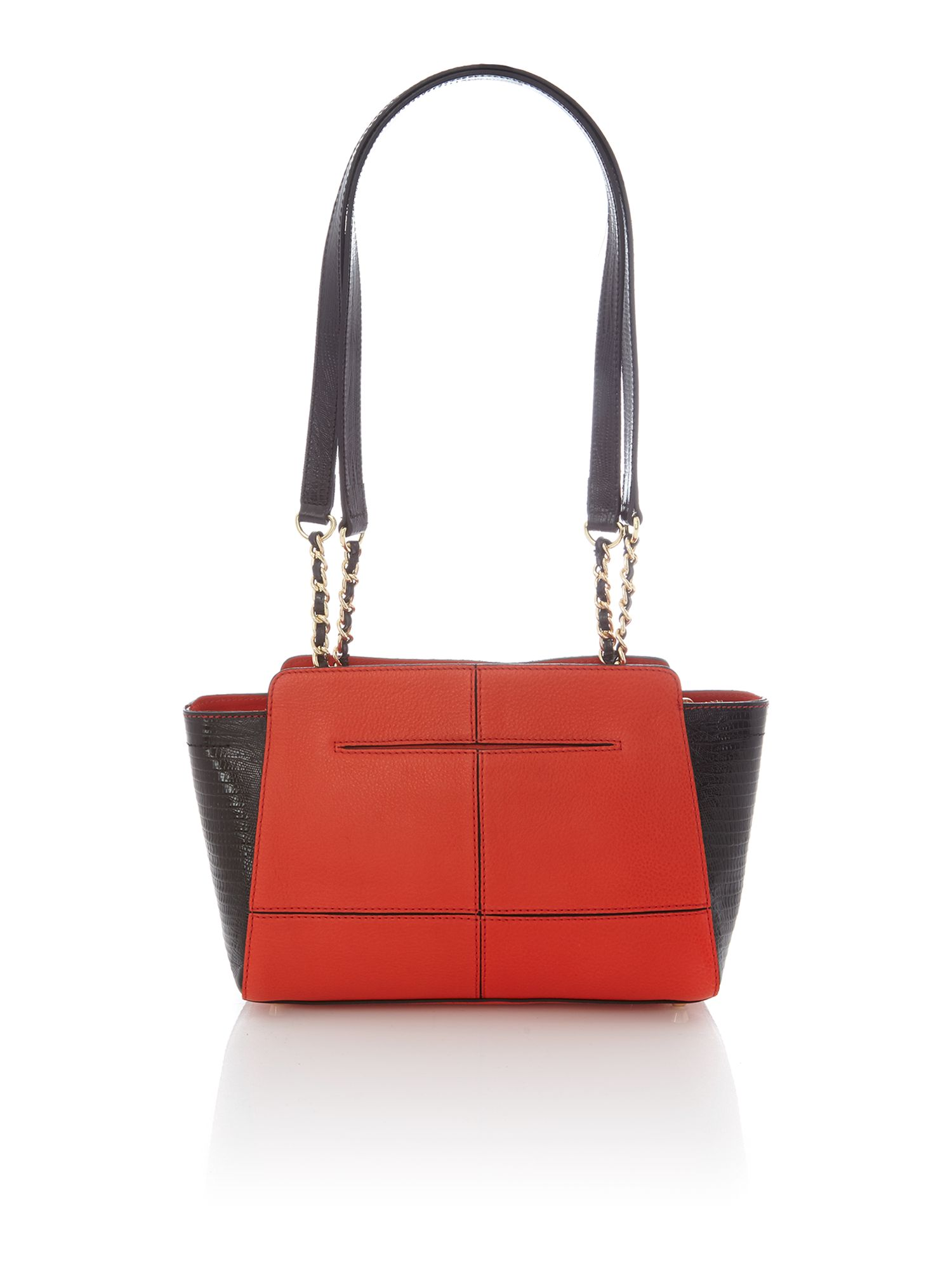 Marlow orange chain shoulder bag