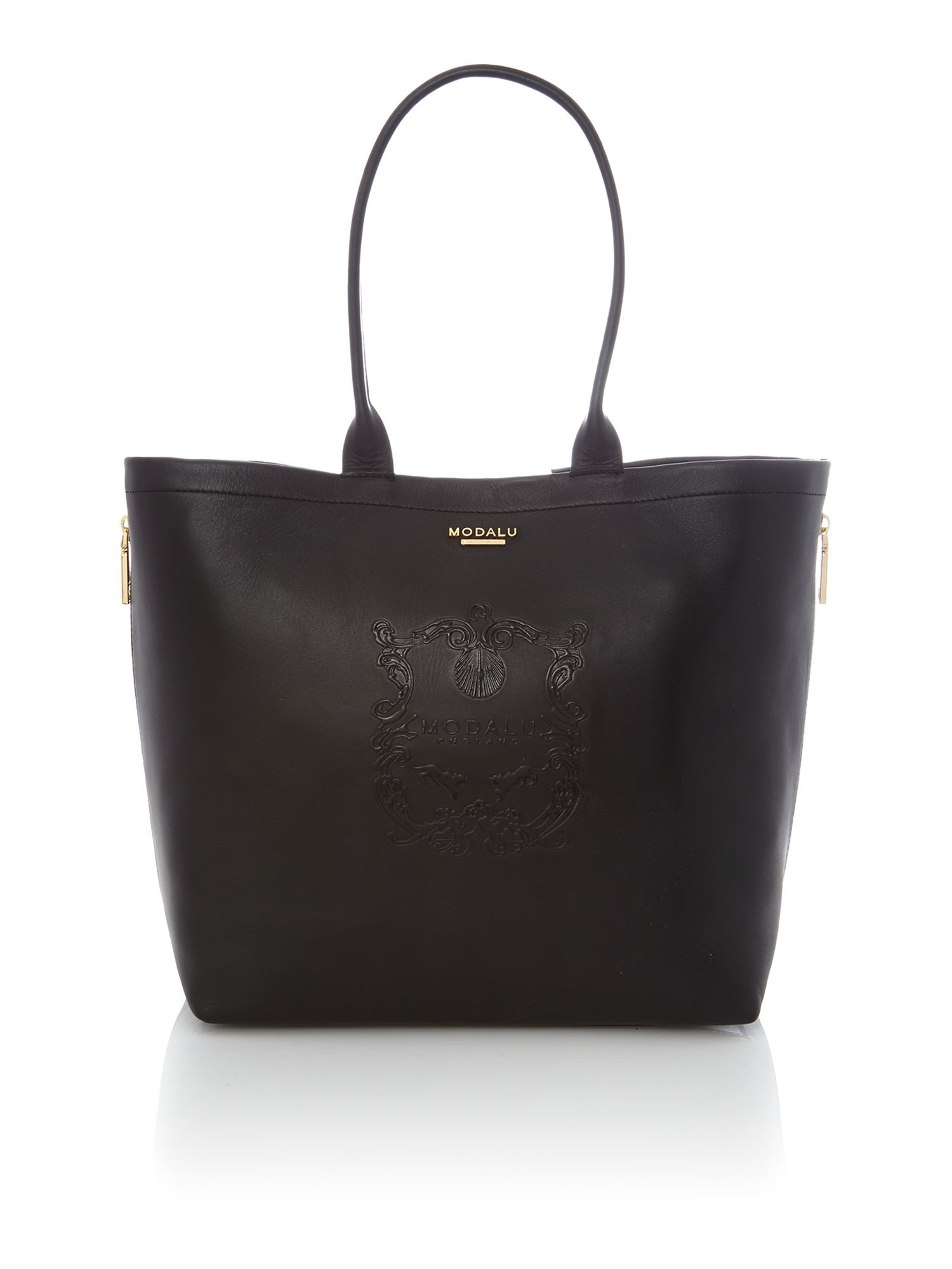 Buckingham large black chain tote bag