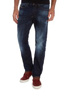 Buster 831Q mid wash slim taper jeans