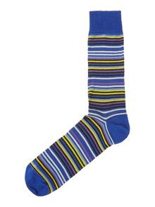 Luxury mercerised multistripe socks