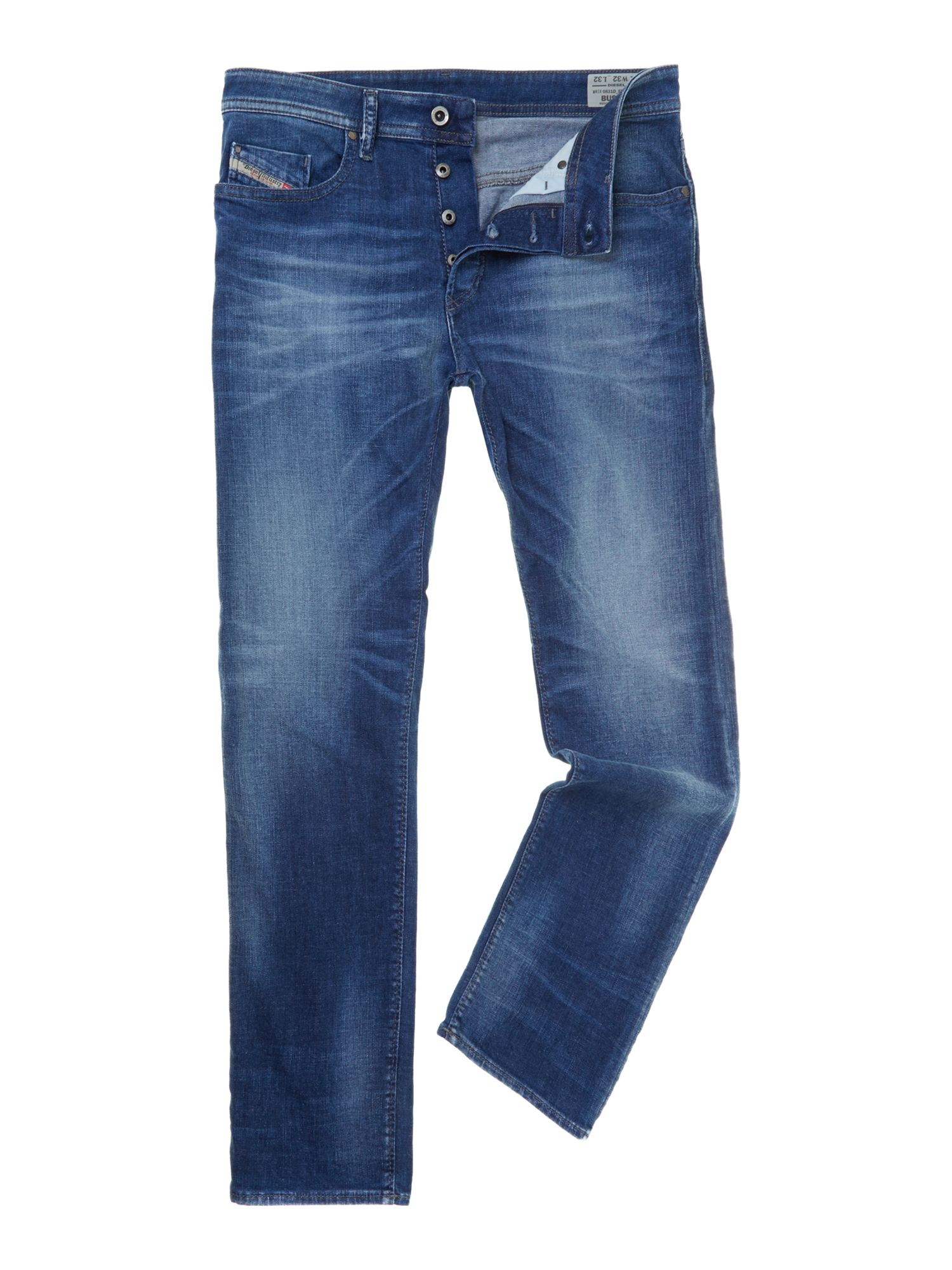 Buster 831D slim taper mid rinse jeans