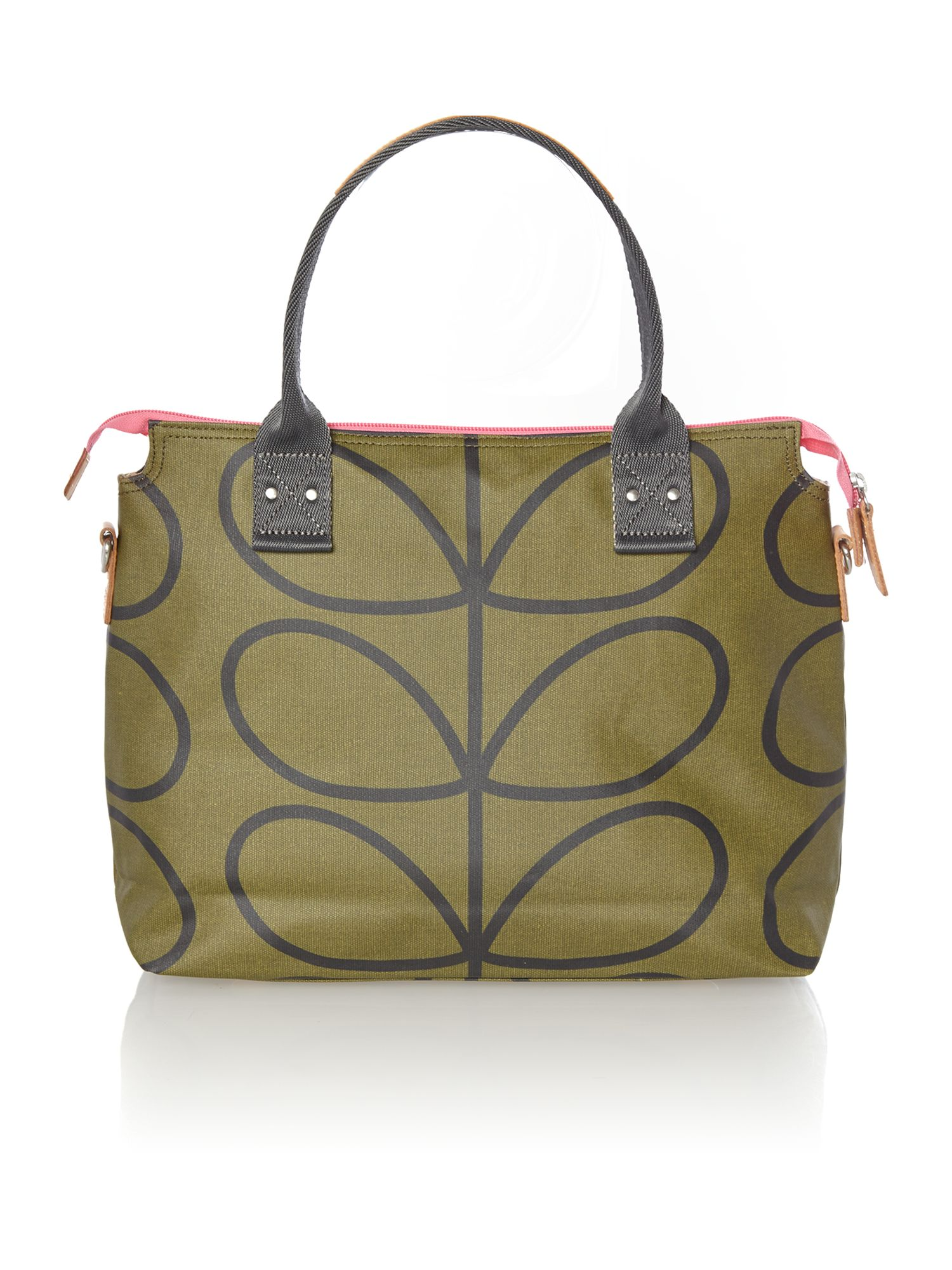 Green giant stem print tote bag