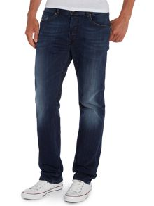 Waykee 814W straight leg dark wash jean