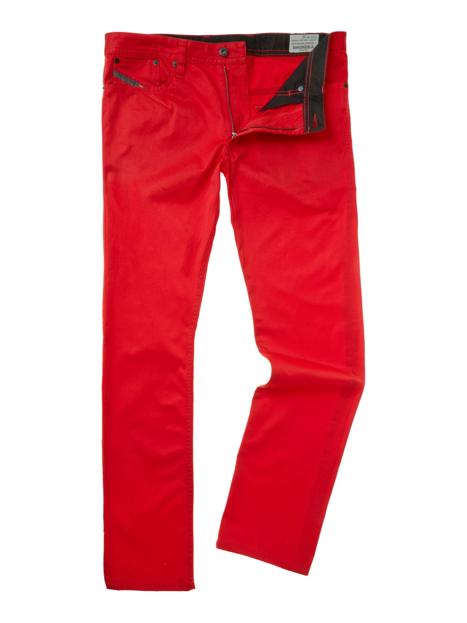 Skinny leg zip trousers