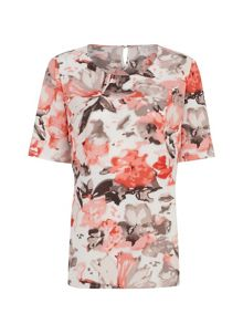 Blurred floral top