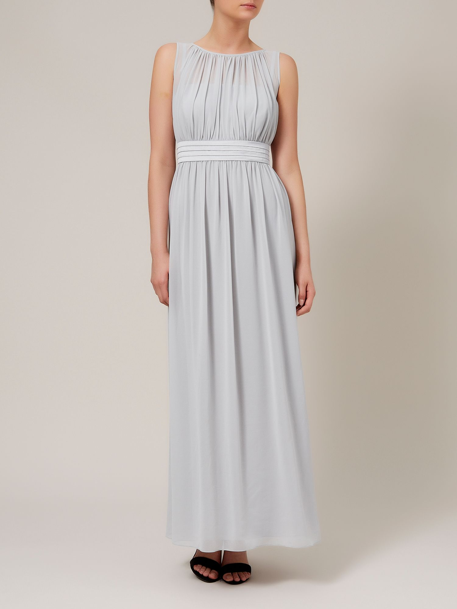 Ruched chiffon maxi dress