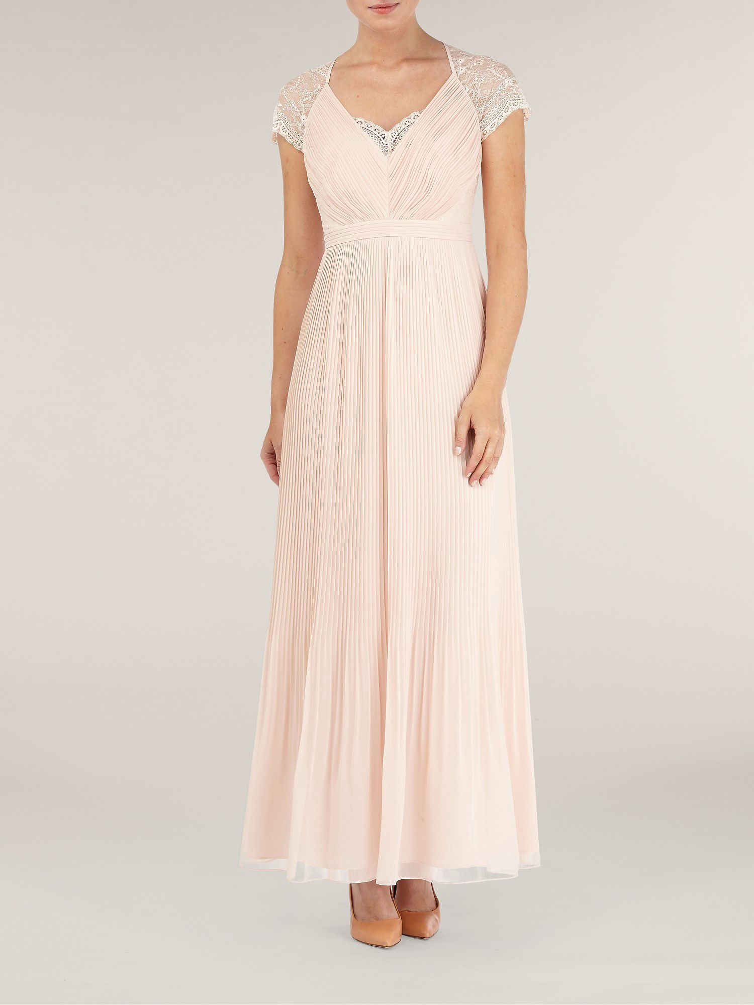 Maxi middleton pleat dress