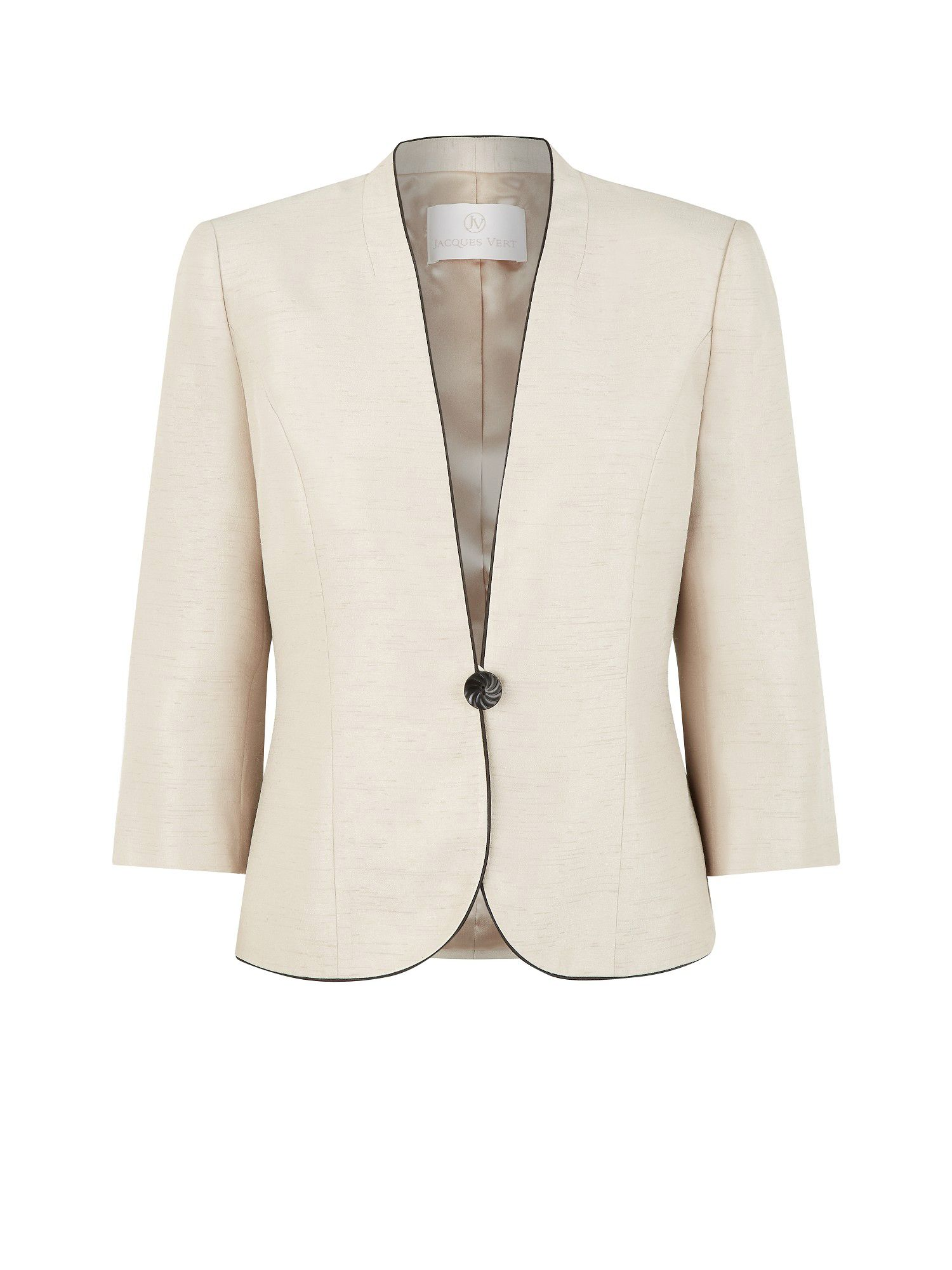 Contrast piped jacket