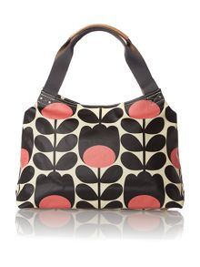 Multi-coloured stem print shoulder bag