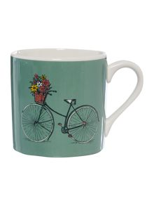 Colour bicycle mug