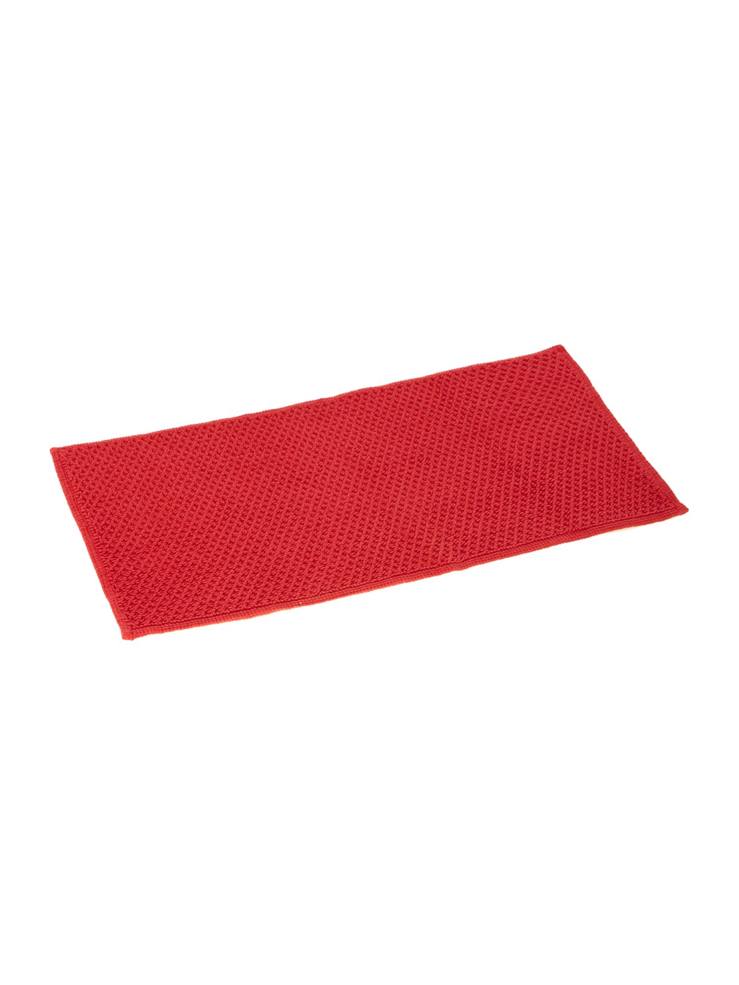 COTTON BOBBLE REVERSIBLE BATHMAT RED