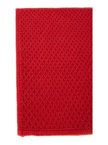Linea Cotton bobble reversible bathmat red