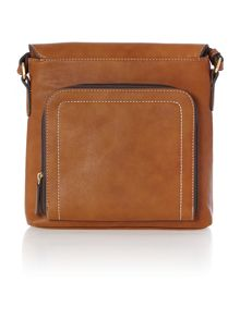 Carey tan cross body bag
