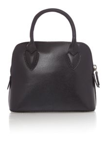 Aldgate plain black leather multiway mini bag