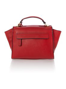 Layla red small satchel bag