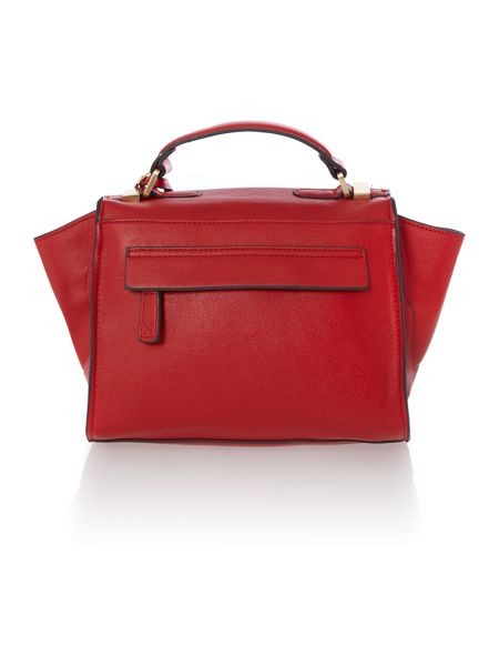 Fiorelli Layla red small satchel bag
