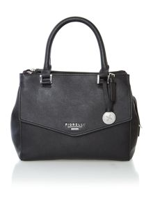 Mia black small cross body tote bag