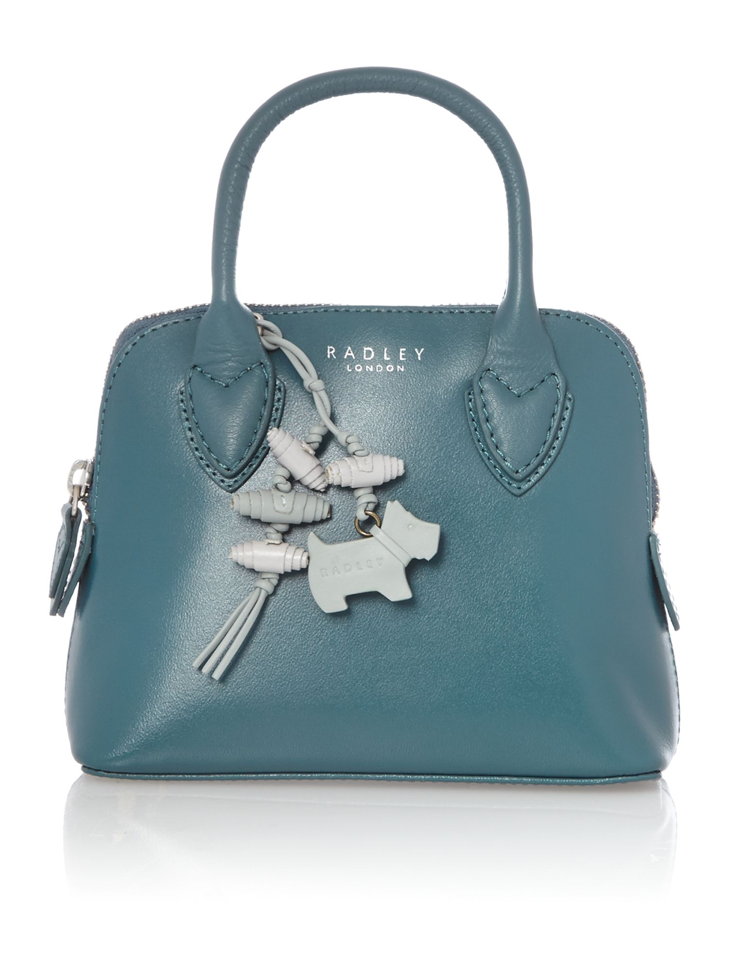 Aldgate plain blue leather multiway mini bag