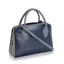 Aldgate plain navy leather multiway medium bag
