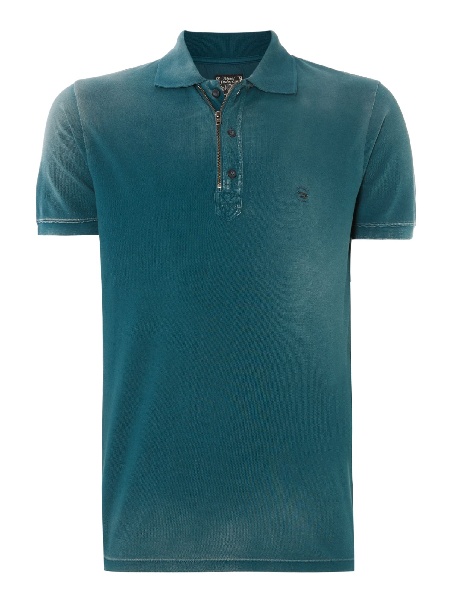 T-kalanit zip collar polo shirt