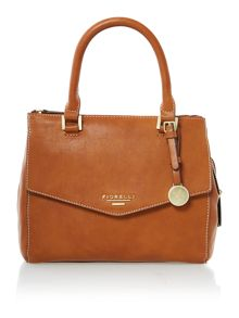Mia tan small cross body tote bag