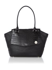Nova black croc large tote bag