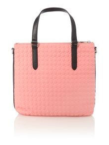 Pink quilt cross body tote bag