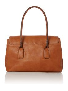 Olivia Jade tan flap over tote bag
