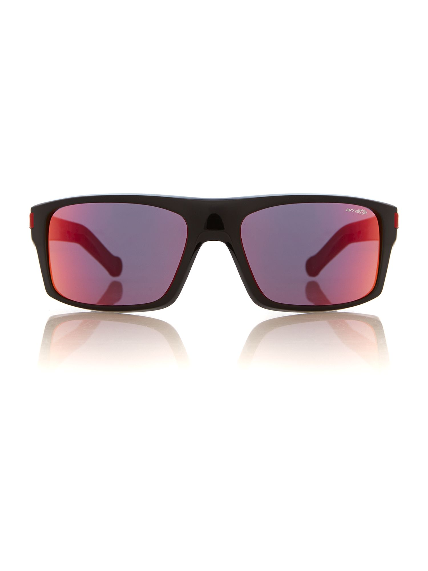 Men grey mirror red rectangle sunglasses