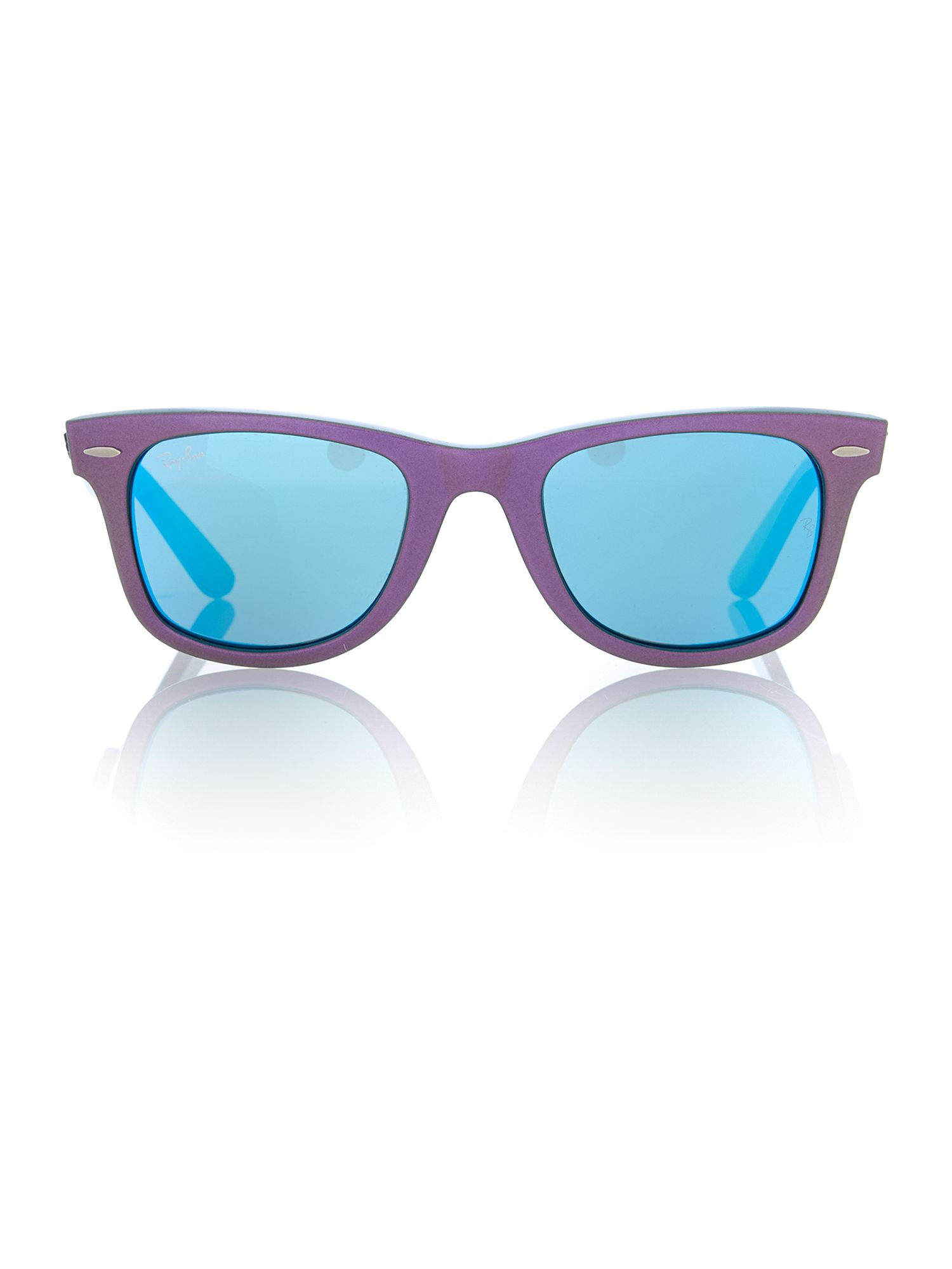 Unisex grey mirror blue squared sunglasses