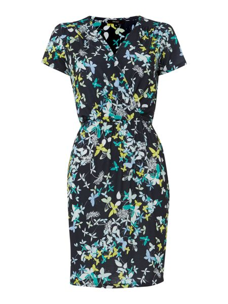 Therapy Butterfly print wrap dress