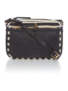 Black and white cross body bag