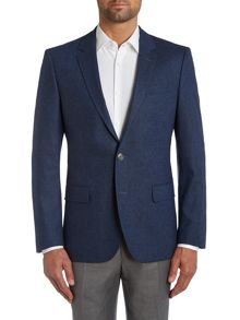 Hutsons slim fit melange textured jacket