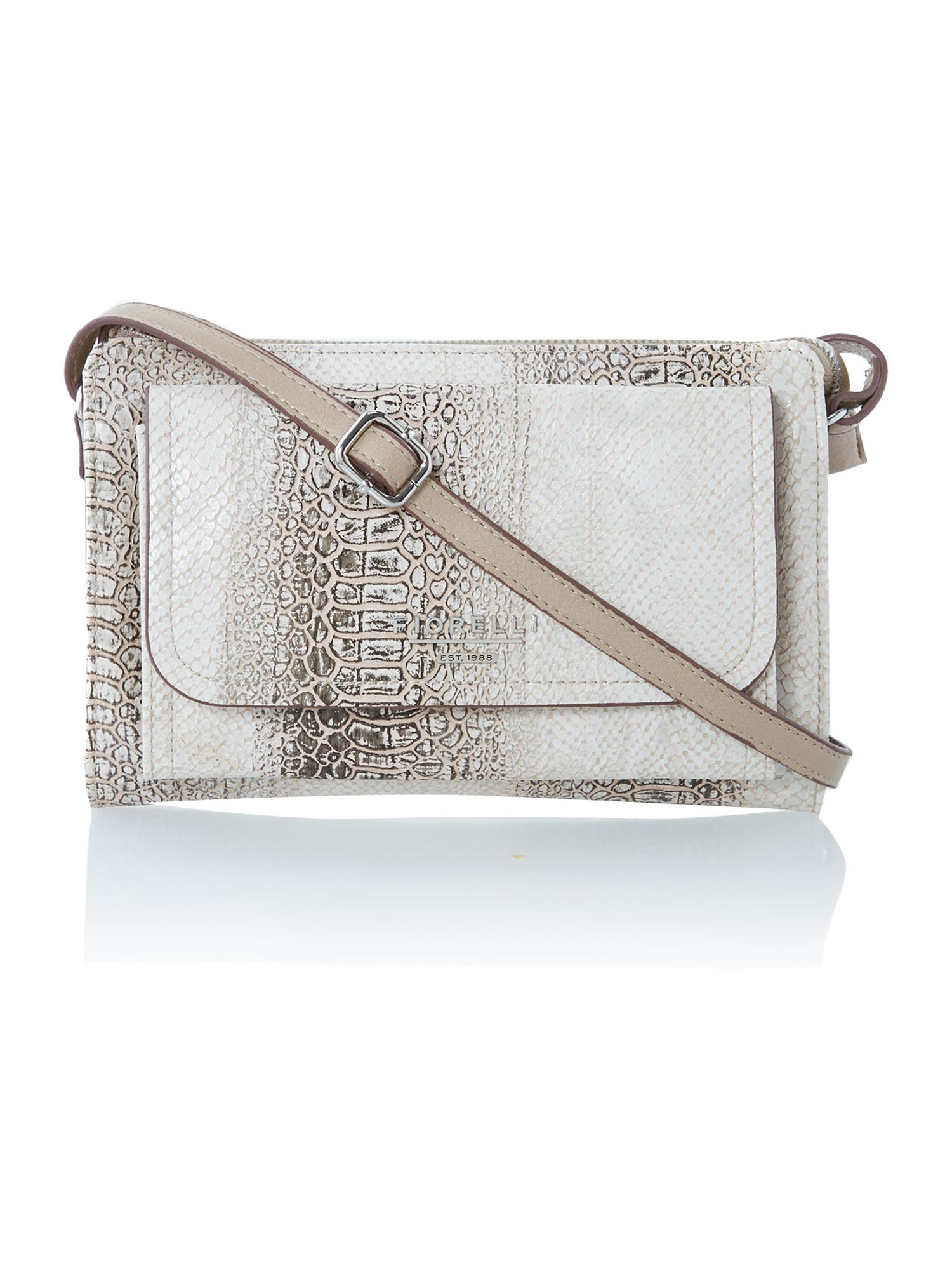 Tessa neutral snake small cross body bag