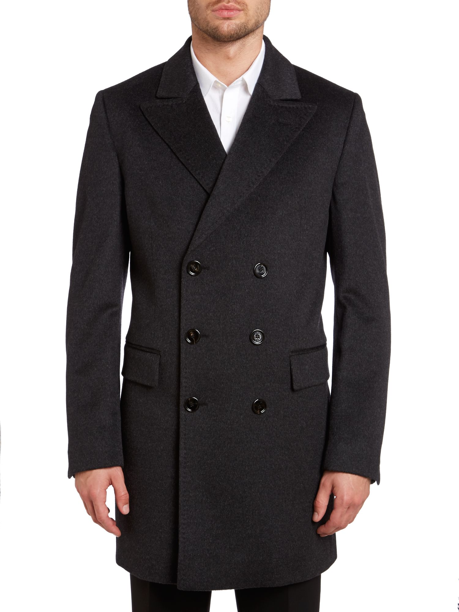 Harrison double breasted long coat