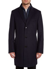 Logan coat with nylon gilet insert