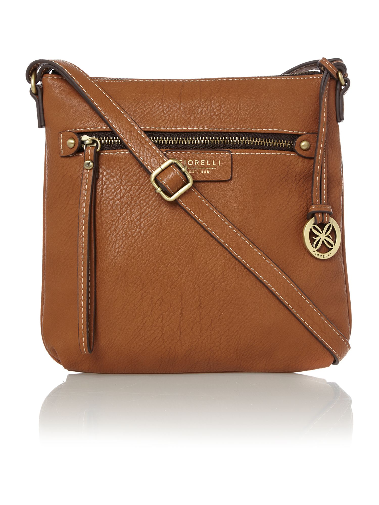 Phoebe tan cross body bag