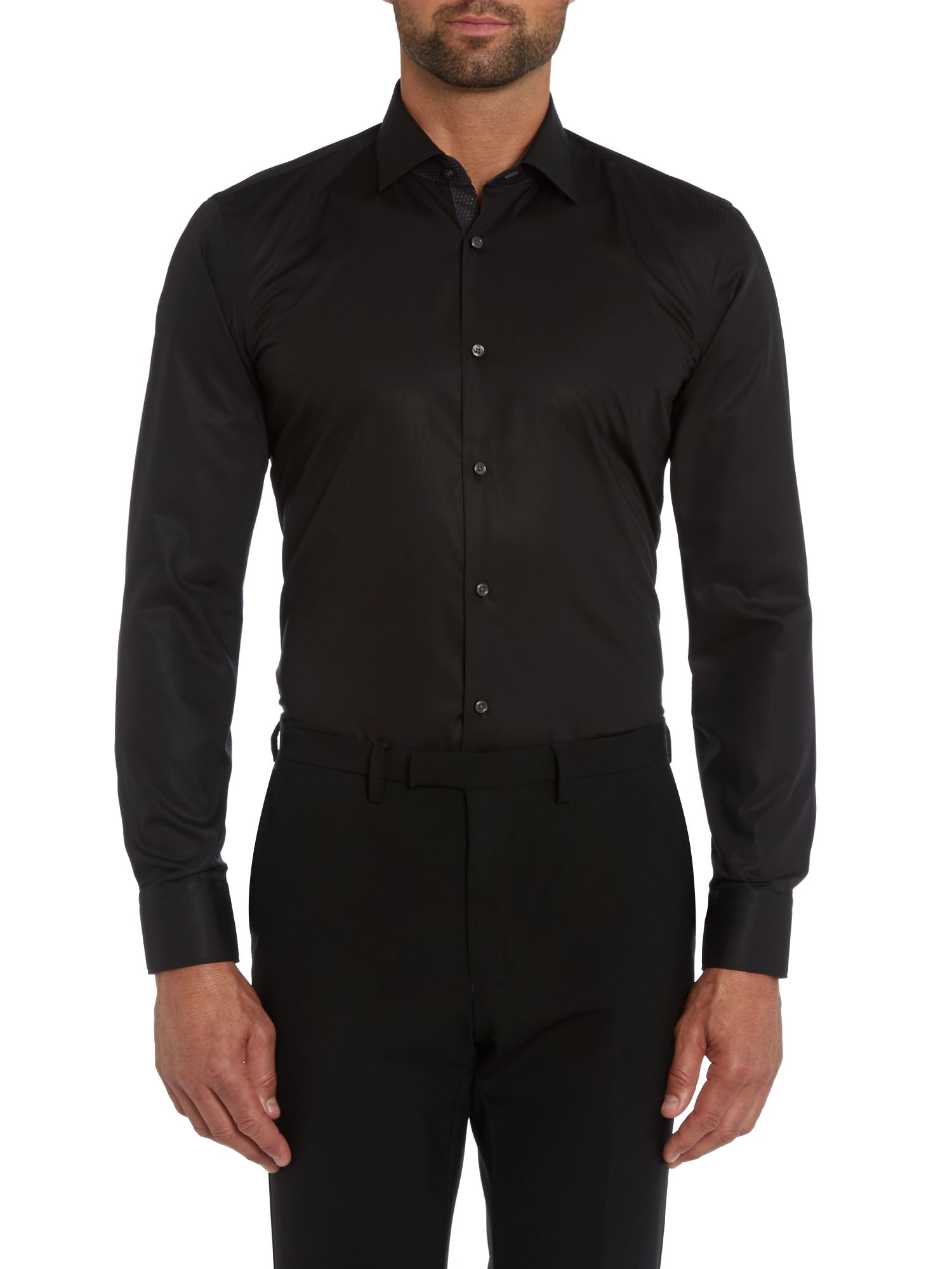 Juri slim fit shirt with contrast internal collar