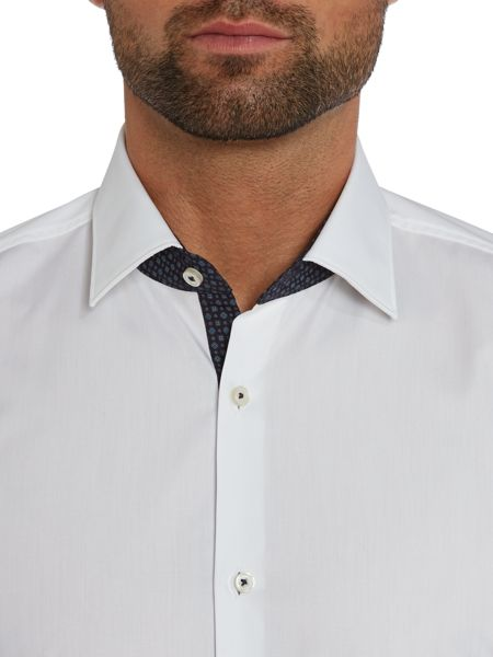 Hugo Boss Juri slim fit shirt with contrast internal collar
