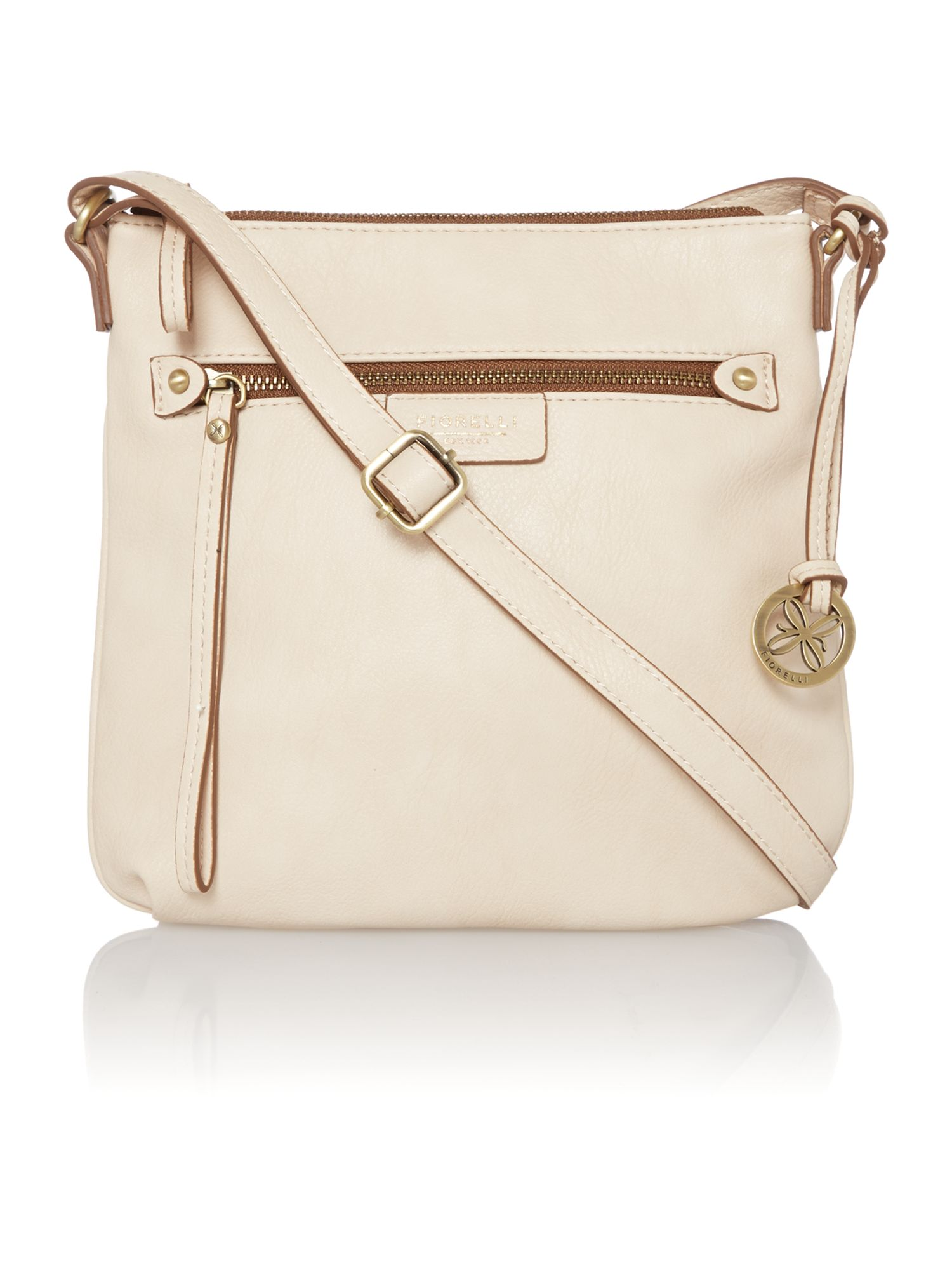 Phoebe neutral cross body bag