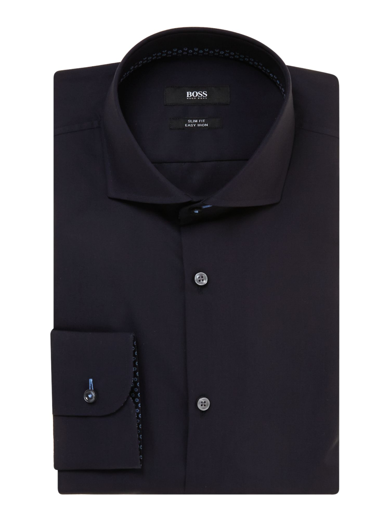 Jery slim fit patterned internal trim shirt