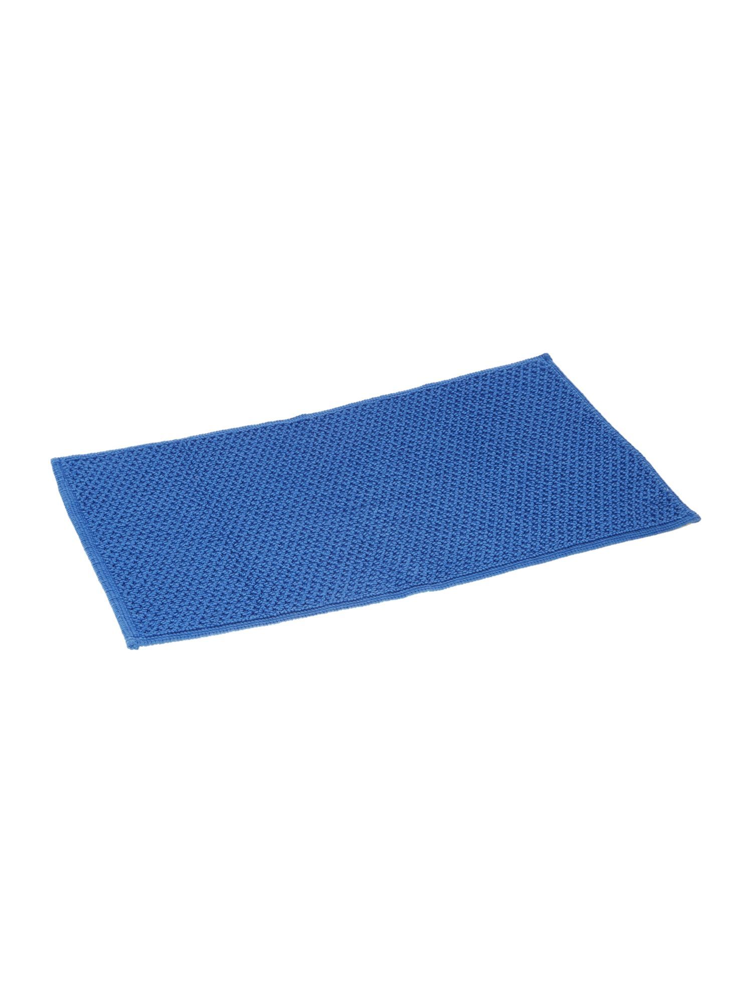 Cotton bobble reversible bathmat cornish blue