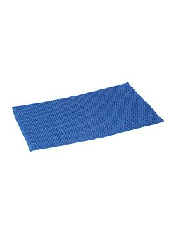 Reversible Bobble Bath Mat in Cornish Blue