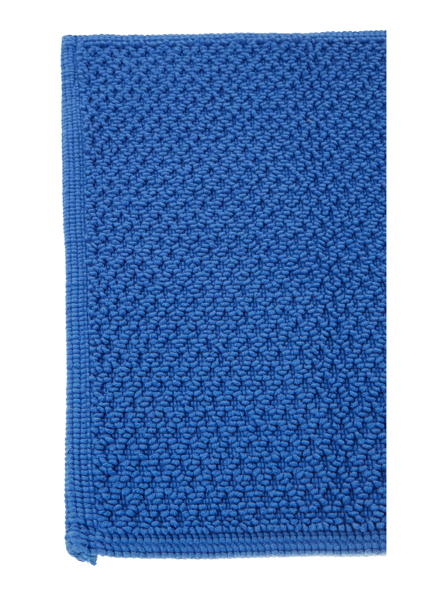COTTON BOBBLE CORNISH BLUE REVERSIBLE BATHMAT