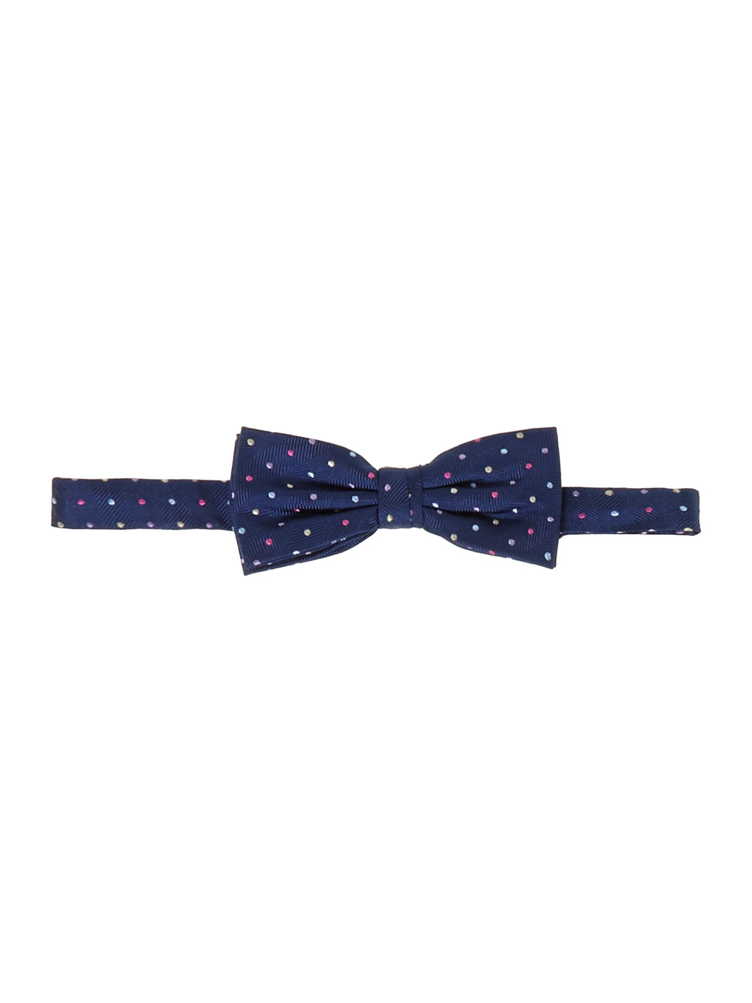 Bramble Herringbone Silk Bow Tie