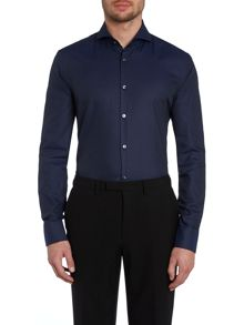 Dwayne fleck square pattern slim fit shirt
