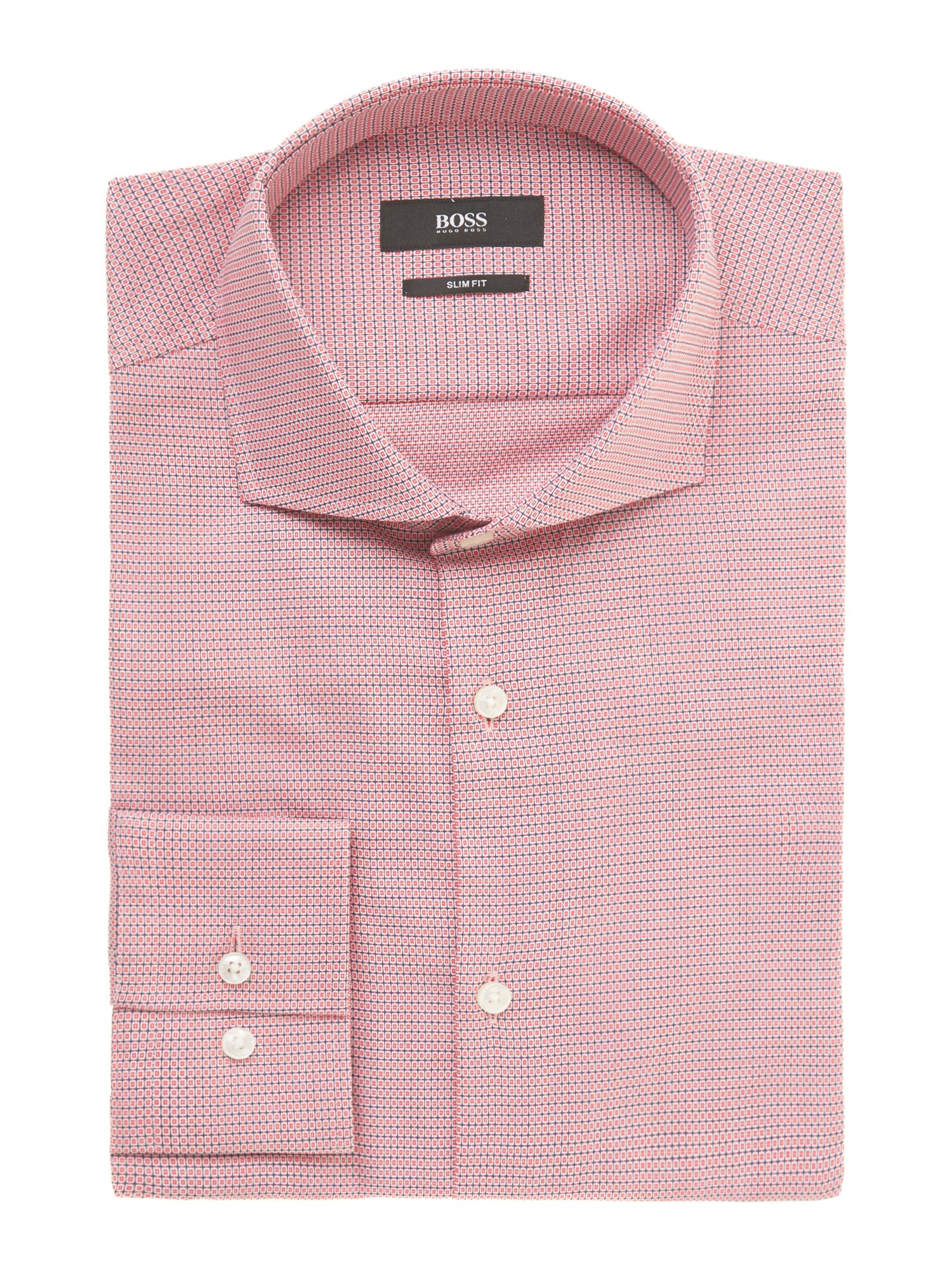 Jason slim fit dobby check shirt