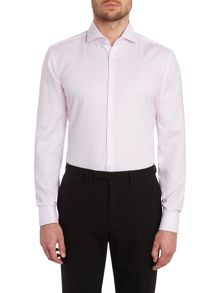 Jaiden slim fit solid texture double cuff shirt