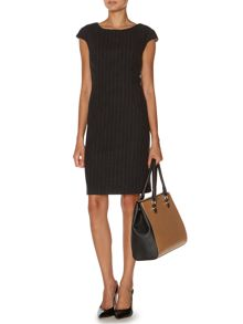 Luxury wool rich pinstripe dress