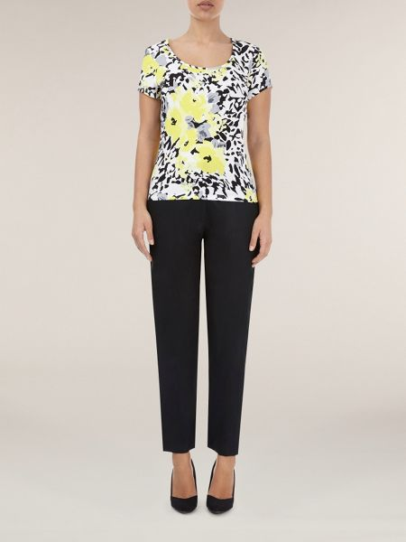 Precis Petite Tapered linen trousers